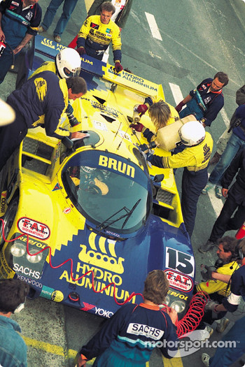 #15 Brun Motorsport Porsche 962C: Harald Huysman, Massimo Sigala, Bernard Santal