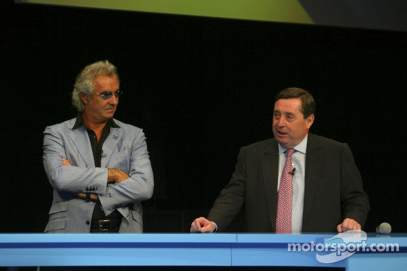 Flavio Briatore and Patrick Faure