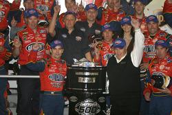 Victory lane: race winner Jeff Gordon celebrates with Rick Hendrick and his team