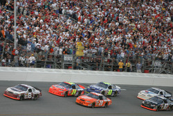 Dale Earnhardt Jr. leads Jeff Gordon and Tony Stewart