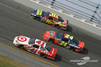 Casey Mears, Jeff Gordon and Greg Biffle