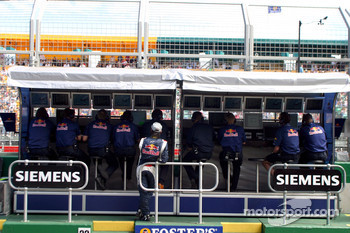 Vitantonio Liuzzi at Red Bull Racing pitwall