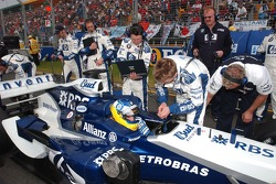 Nick Heidfeld on the starting grid