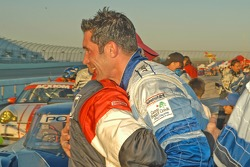 Elliott Forbes-Robinson and Max Papis celebrate