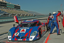 Pitstop for #2 CITGO - Howard - Boss Motorsports Pontiac Crawford: Milka Duno, Andy Wallace