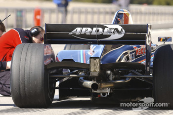 Rear wing of the Arden International GP2 car