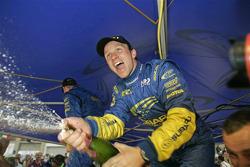 Rallly winner Petter Solberg celebrates