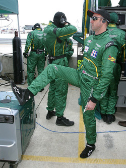 David Brabham stretches