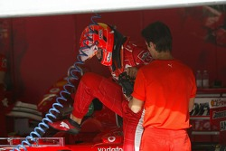 Seat fitting for Michael Schumacher