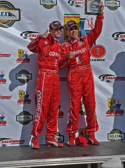 DP podium: overall and class winners Luis Diaz and Scott Pruett