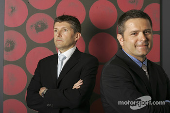 Gil de Ferran, BAR Honda Sporting Director, with Nick Fry, BAR Honda Chiel Executive Officer