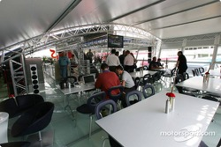 Visit of the new Red Bull Racing hospitality area