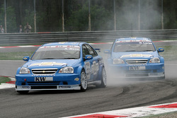 Alain Menu and Nicola Larini