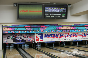 Indy drivers bowling competition