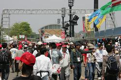 Vendor area at Motegi