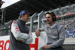 Mattias Ekström with engineer Alexander Stehlig