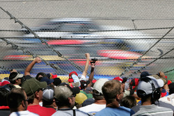 Fans at Talladega watch the race action