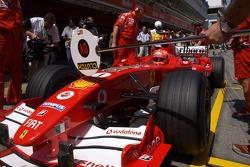 Pitstop practice for Michael Schumacher