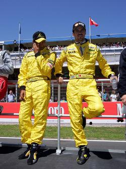 Drivers presentation: Narain Karthikeyan and Tiago Monteiro