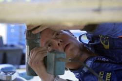 Subaru World Rally Team crew member at work