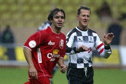Charity Soccer at the Stade Louis 2, with Prince Albert II of Monaco: Antonio Pizzonia and Michael Schumacher