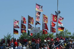 Flags of Michael Schumacher fan clubs