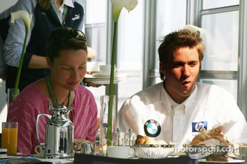 Nick Heidfeld with girlfriend Patricia Papen