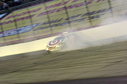 Casey Mears spins in turn 4