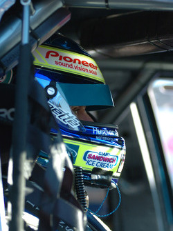 Russell Ingall concentrates before heading out