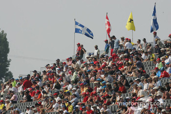 Fans at Circuit Gilles-Villeneuve