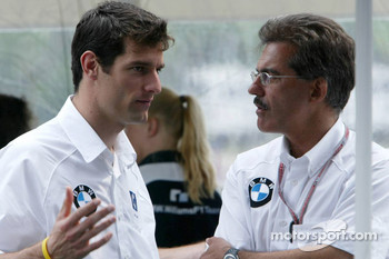 Mark Webber and Dr Mario Theissen