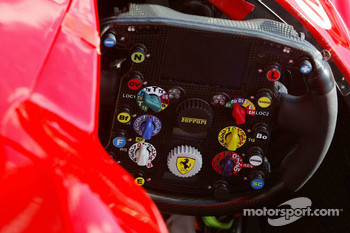 Cockpit of the Ferrari