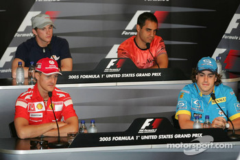 Thursday FIA press conference: Michael Schumacher;Fernando Alonso;Scott Speed;Juan Pablo Montoya