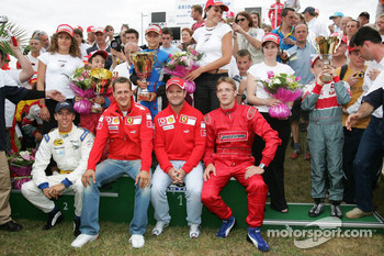 Bridgestone karting event: Michael Schumacher, Rubens Barrichello and Sébastien Bourdais
