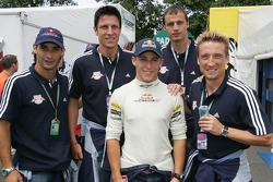 Christian Klien with Red Bull Salzburg football team players