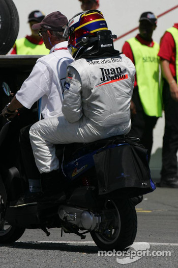 Day over for Juan Pablo Montoya