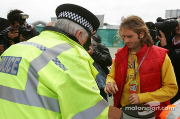 High security at paddock entrance: Jarno Trulli