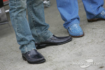 Shoes of  Takuma Sato