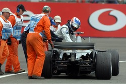 Car of Kimi Raikkonen stopped on the track