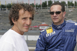 Alain Prost and Johnny Cecotto