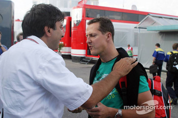 Pasquale Lattuneddu and Michael Schumacher