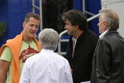 Bernie Ecclestone and Michael Schumacher discuss