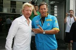 Boris Becker and actor Ralf Möller