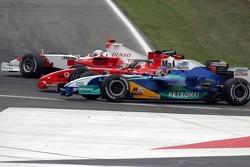 Jarno Trulli, Rubens Barrichello and Jacques Villeneuve