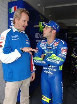 Kevin Schwantz and Marco Melandri