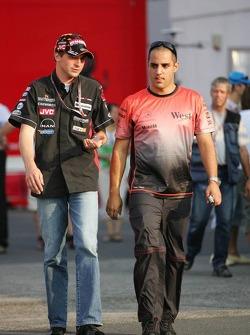 Christijan Albers and Juan Pablo Montoya