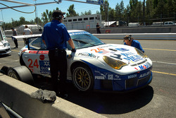 #24 Alex Job Racing Porsche 911 GT3 RSR: Darren Law, Ian Baas