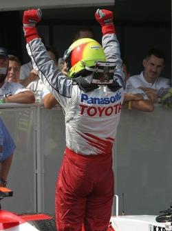 Ralf Schumacher celebrates