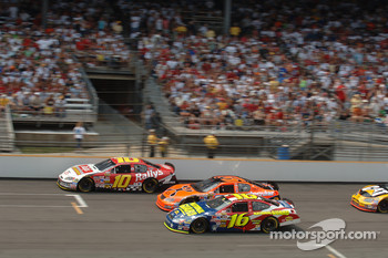 Brian Vickers, Jeff Burton and Greg Biffle