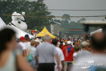 Watkins Glen fans arrive at the track